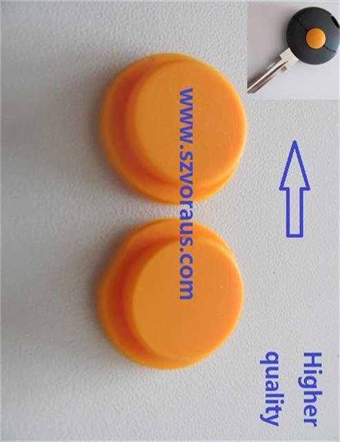 1 button yellow rubber button pad replacement for Merced remote key