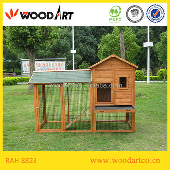 Wooden Rabbit Hutch For 5 Rabbits At Least