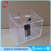 Customized Acrylic mobile phone storage box cell phone case with lock