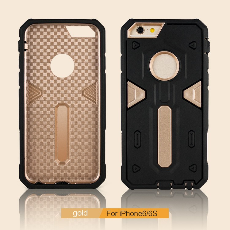 China Factory Wholesale Slim TPU+PC Hybrid Armor mobile phone case for iphone 6 6s