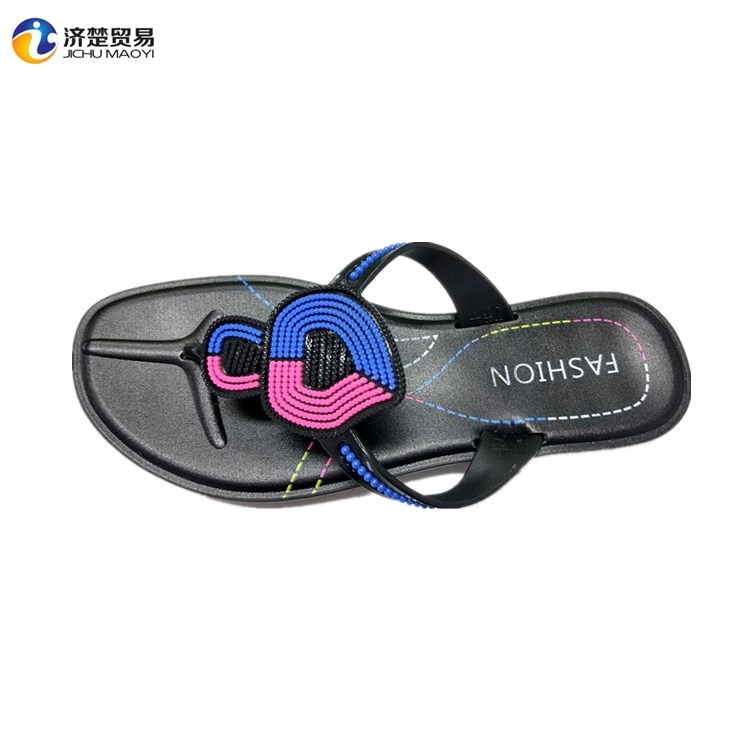 Yiwu PVC shoes latest design fancy ladies chappal