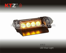 amber color visor LED warning lights (XS2)