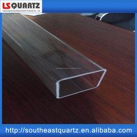 Fused silica quartz square test tube from southeast quartz
