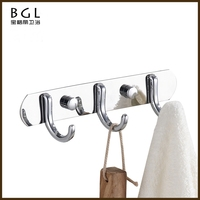 china supplier bathroom accessory wall mounted clothes chrome finishing coat hook rack