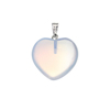 New Fashion Stone Natural Gemstone Heart shape Pendant Charm For Womens Jewelry