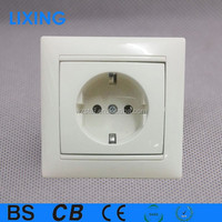 Russian earthed outlet and wall socket or socket