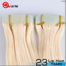 High quality 100% remy human hair double weft 18 20 22 inch any color tape hair extension