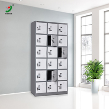 Steel furniture KD flat packed 18 door metal lockers for changing room hanging clothes