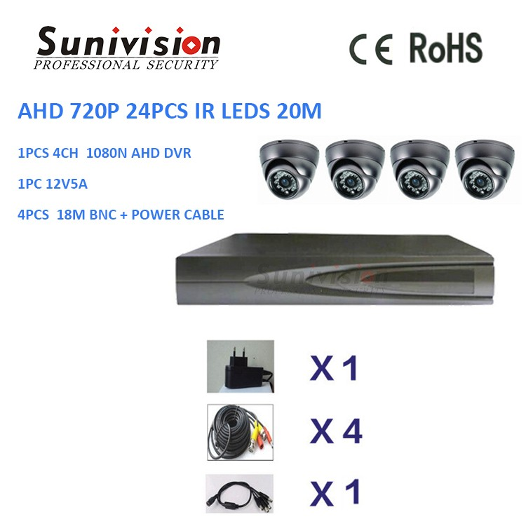new model China wholesale OEM AHD 720P NVP2431H + OV9712 metal dome camera 24pcs IR leds cctv camera system home security
