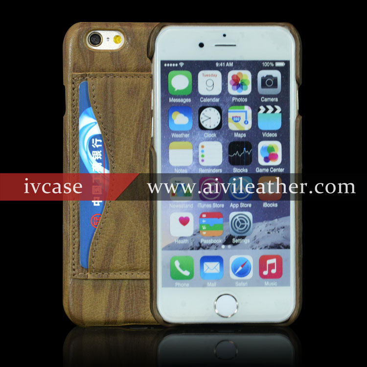Genuine Leather Back Cover Mobile Phone Case For Iphone 6 Plus Luxury Case
