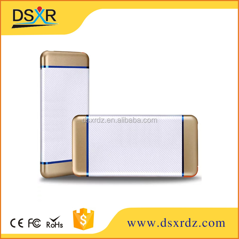 High Quality USB MICRO Aluminium slim metal larger capacity corporate gifts power bank