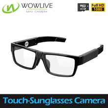 One-touch Photo Taken/Video Recording Wearable Built-in 16GB Memory Spy Gear 1080P HD Glasses Camera