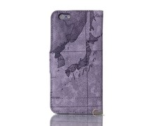 Old Age World Map Printing Phone Cover Wallet Stand PU Leather Phone Case for iPhone 7 7plus 8 8plus X