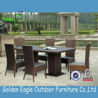 Hot sale outdoor six chairs one table outdoor Furniture table