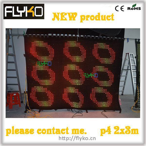 2015 led edit software digital indoor led dj stage backdrop