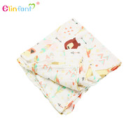 New Design Custom Print Swaddle 100% Organic Cotton Muslin Swaddle Baby Blanket