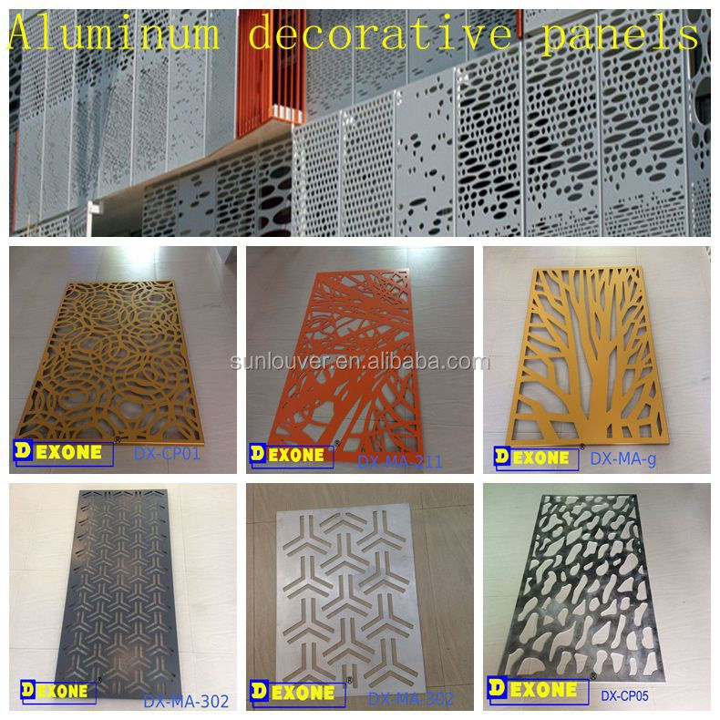 Exterior aluminum laser cut decorative facade panels for construction
