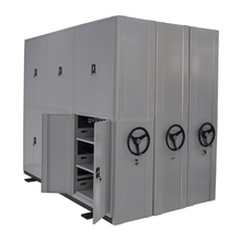 Steel large archives high density mobile shelving/metal movable file compactor/mobile filing cabinet