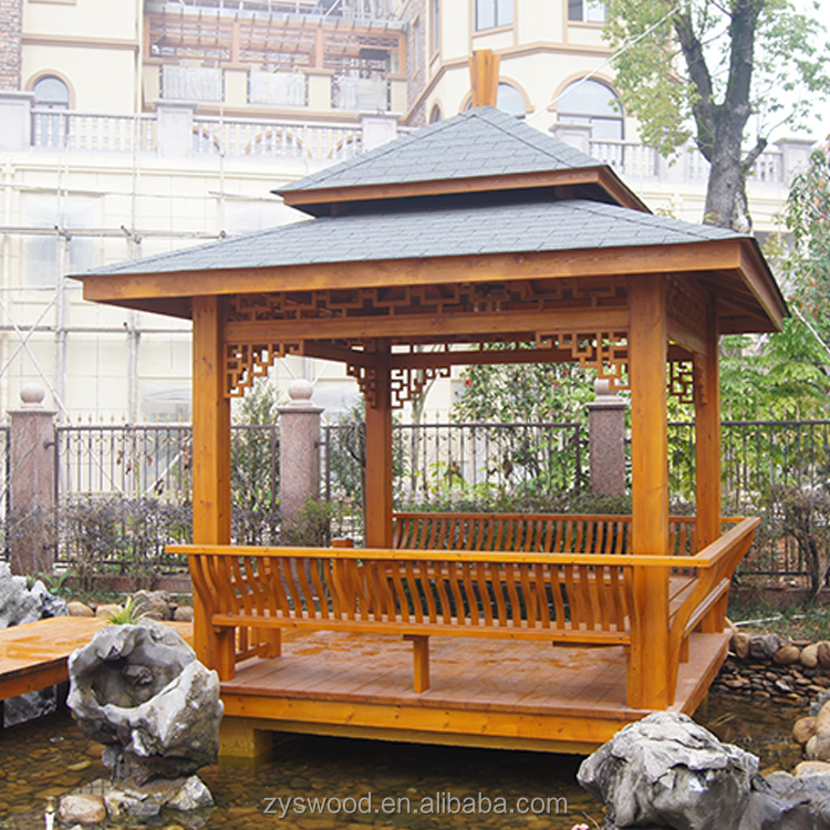 factory price outdoor simple cheap wooden gazebo