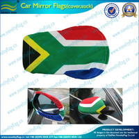 heat transfer printing Flexible fabric custom car mirror sock and car side mirror cover for national day