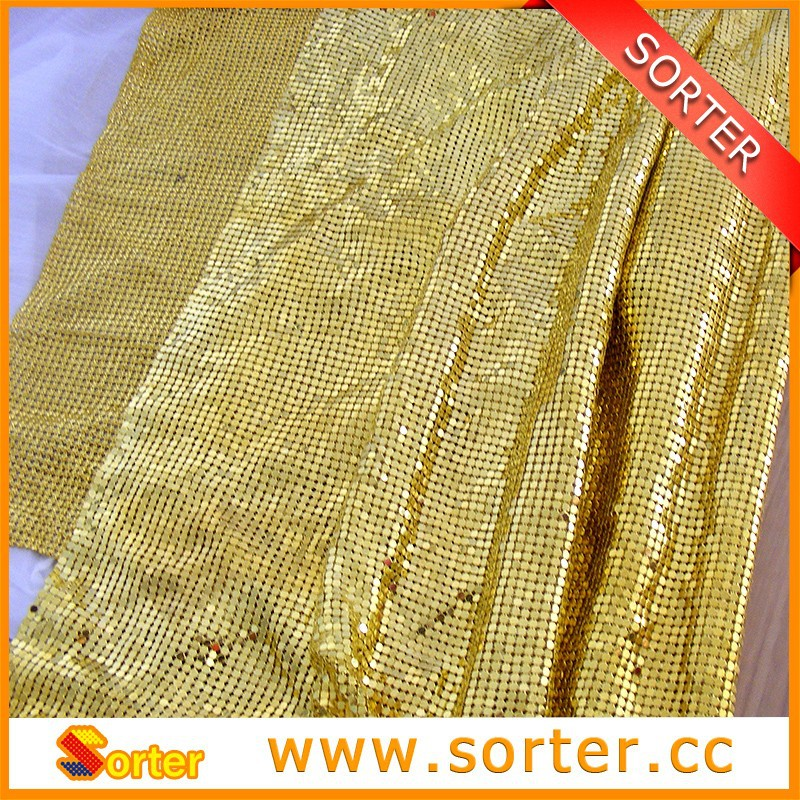 2017 Best Selling Items Knitted Sequin Fabric For Party Decoration