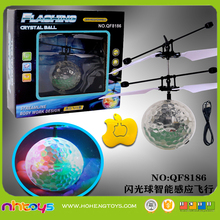 Hot sale remote control flying toy led toy ball for kids