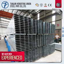 Standard size c channel purlins specification, cold formed c channel steel section sizes