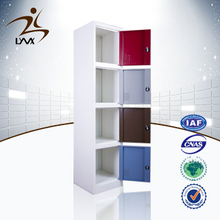 China high quality colorful 4 door powder coated steel storage lockers / hair salon storage cabinet