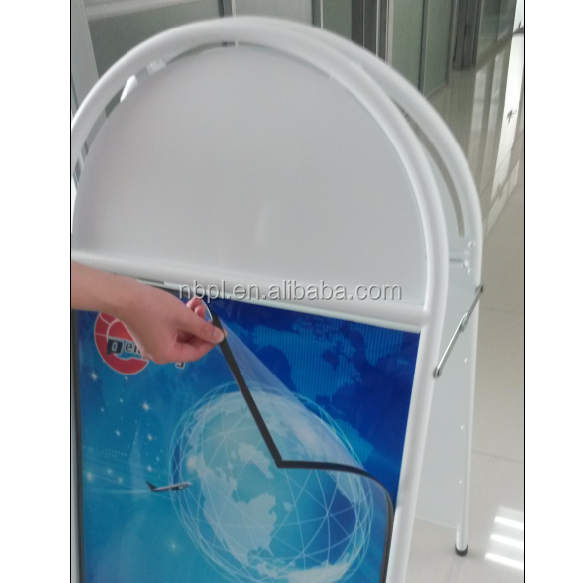double side magnetic poster board stand a frame poster holder with round top