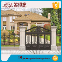 High quality cast aluminum gate/Modern house aluminum mian gate designs, manufacturer (factory direct)
