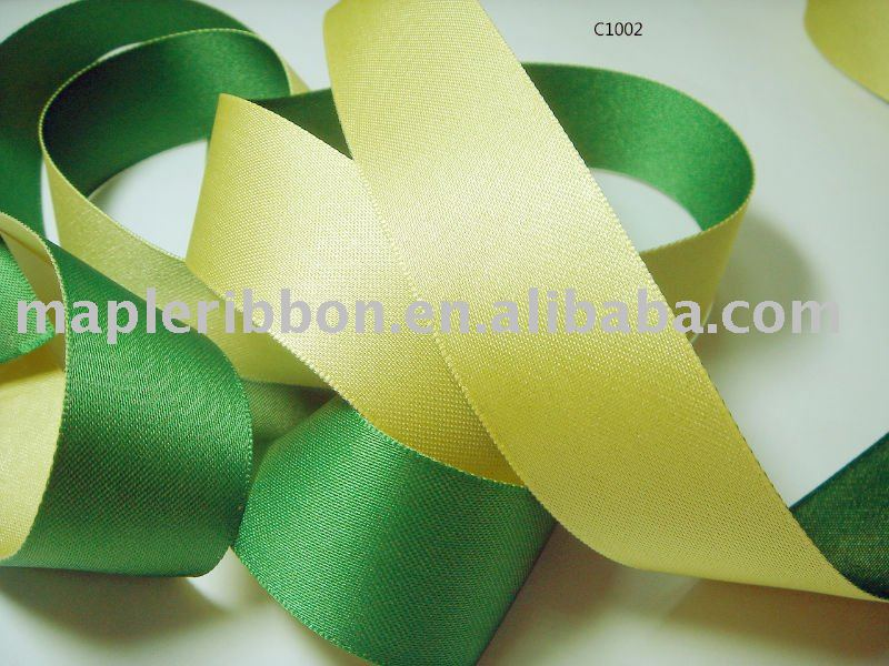 satin ribbon with double colors, decorative ribbon, garment accessory