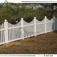 Traditional style cheap wood/pvc/vinyl picket fencing