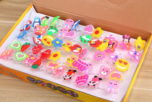 Christmas and other holisy and party Kids jewelry and toy fashion LED light carton Luminous finger rings