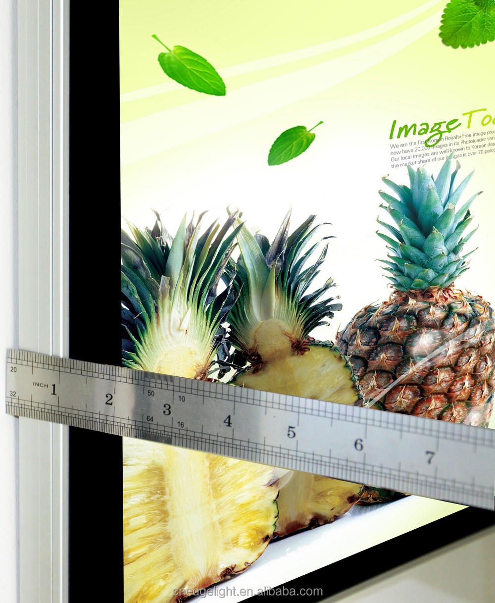 Super Slim LED Light Box ALuminous frame magnetic type with single side