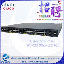 Cheap Price Wholesale Original Cisco Catalyst 2960X series Switch WS-C2960X-48FPS-L , 48 PoE ports Stackable Switch