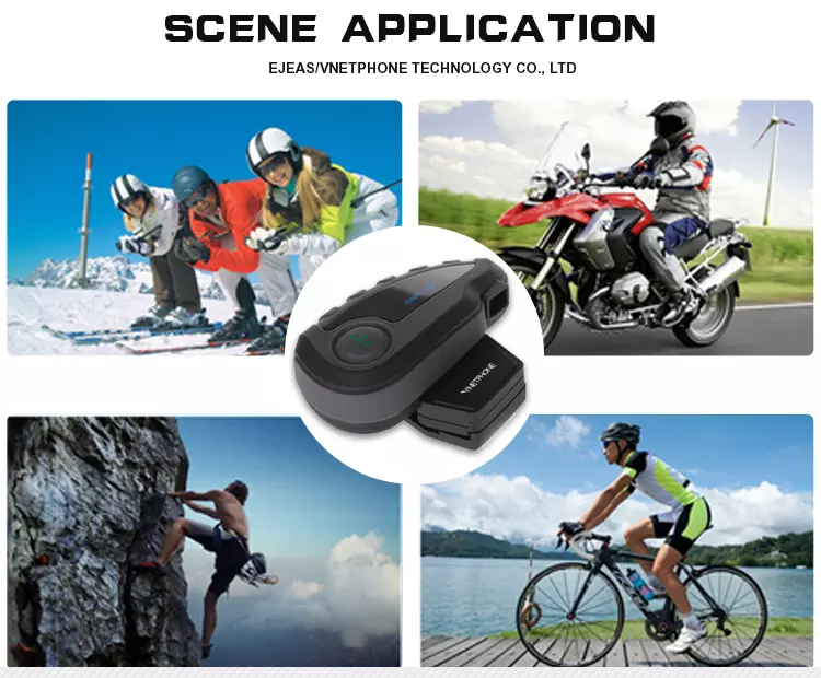 New arrivals 5 riders 1200m V8 Motorcycle Bluetooth Interphone/Intercom Headset