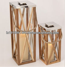 Wooden Candle Lantern