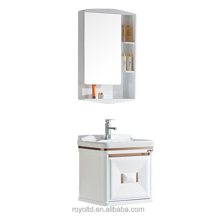 Sanitary Ware Waterproof Hotel Home Indoor pvc bathroom wash basin cabinet