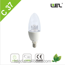 energy saving light transparent e27 led lamps that look like candles