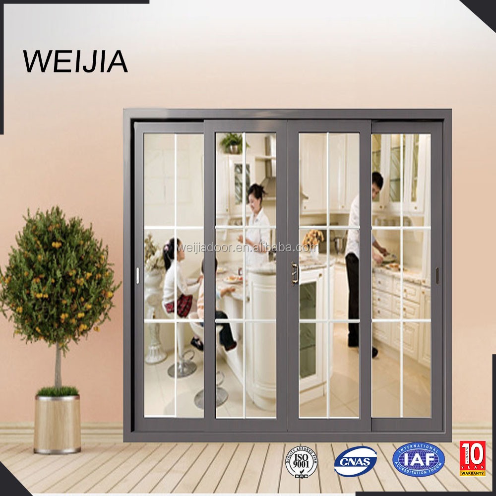 Termpered Glass UPVC Material Sliding Door