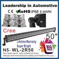 double row LED Light Bar 50 inch CREE 300 Watt,Cree Spot/Flood light BOAT UTE ATV combo New