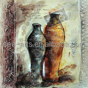 Handmade Abstract Vase Oil Painting On Canvas