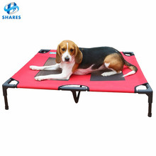 2017 HOT Selling heavy-duty Elevated Foldable Outdoor/Dogs Bed Raised Pet cool cot/iron luxury metal frame dog bed