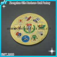 2014 Customized brazil world cup gifts of metal sports badge, gold sports plate with logo