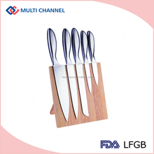 Top quality wood magnet stand stainless steel kitchen knife set super kitchen knife set