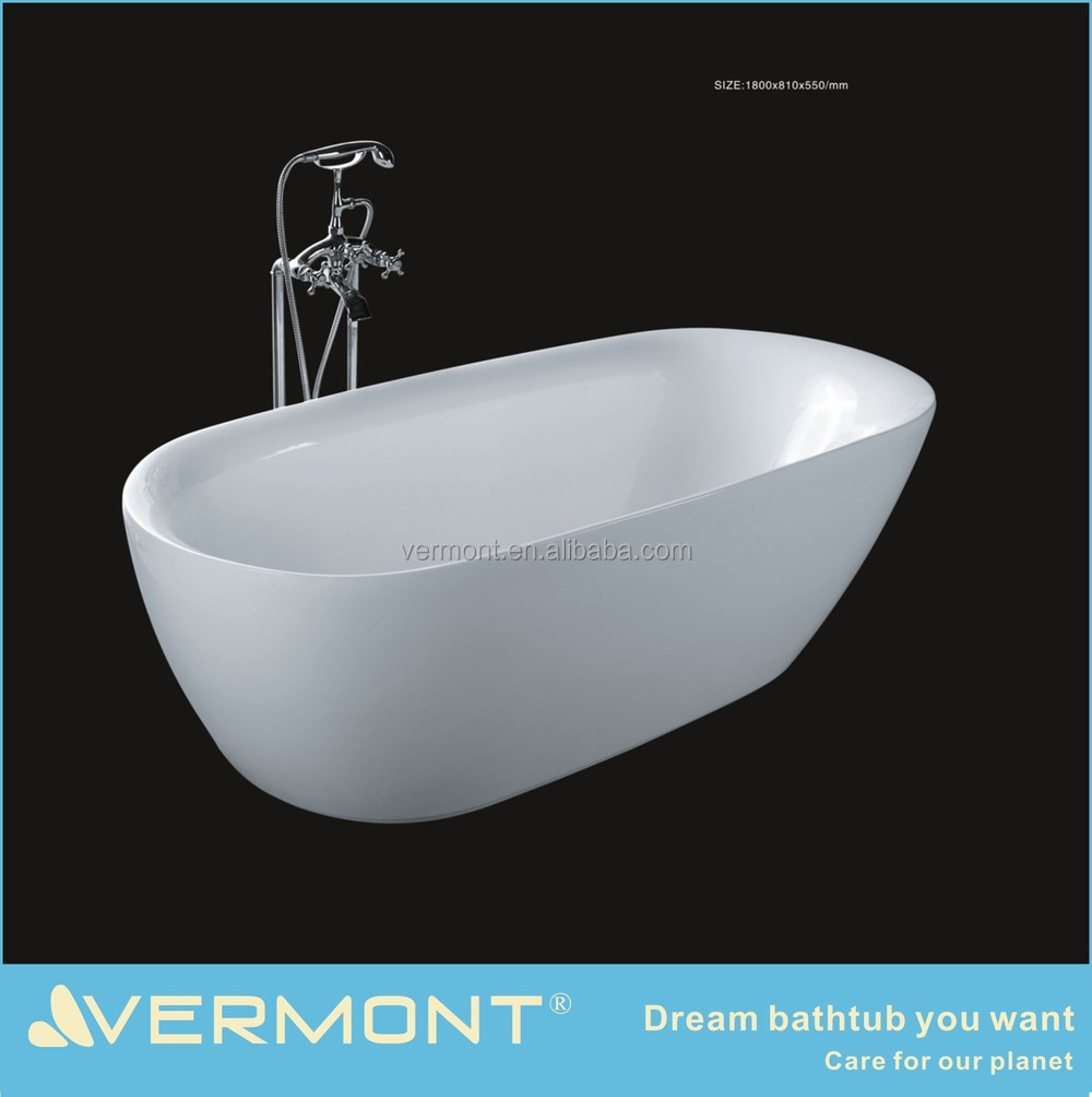 white reestanding arcylic small bathtub new style for sale