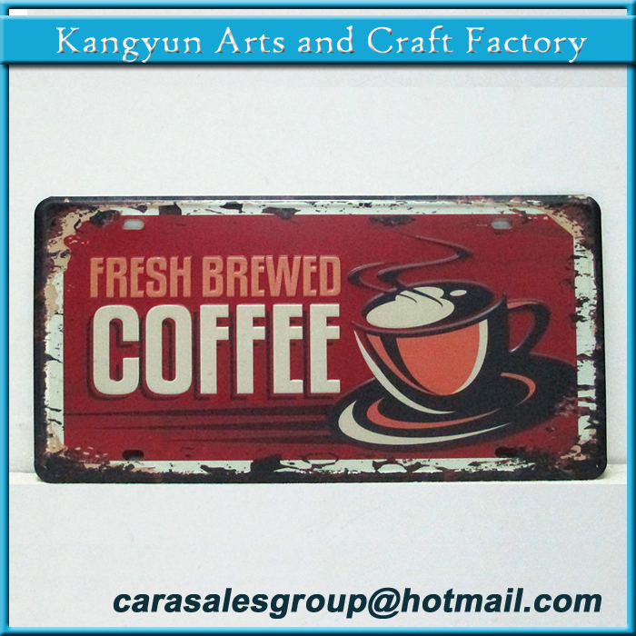 cafes shop store wall decorative postal advertising tin sign old feel