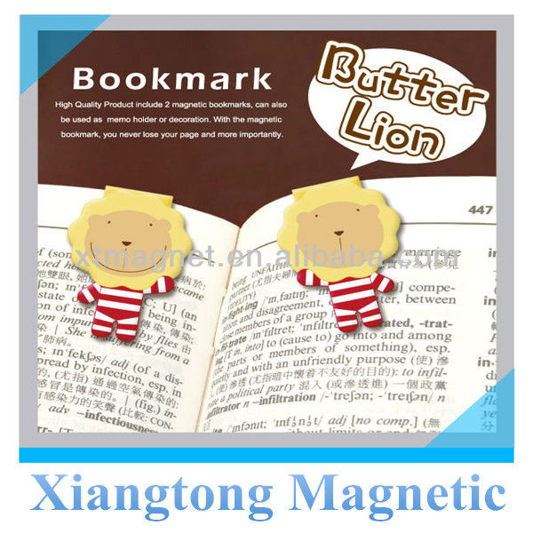 Butter Lion Cartoon Paper Folding Promotional Magnetic Bookmark Hot Selling 2013New
