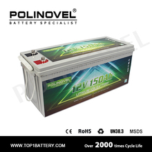 Top quality 12V 150Ah lithium ion battery manufacturer for solar and motor home