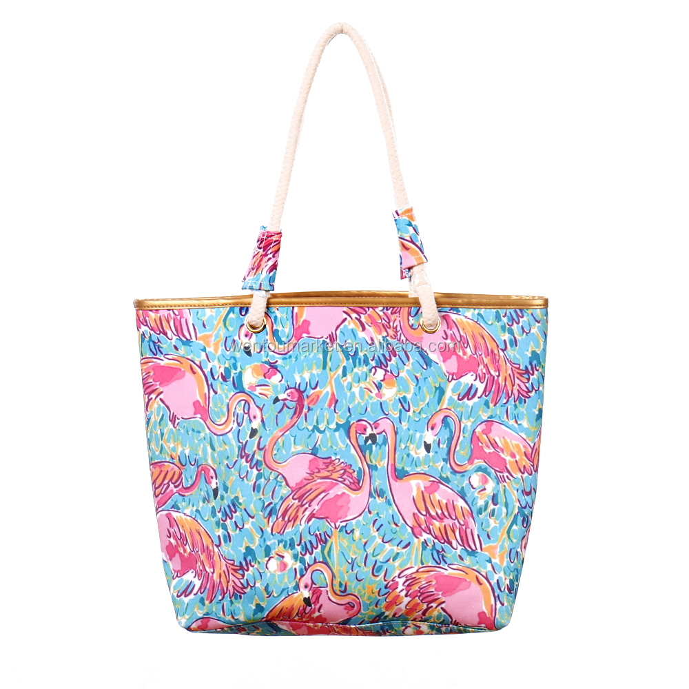 wholesale lilly pulitzer flamingo tote